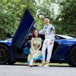Minh nhựa khoe tài lái xe cực giỏi trên phố với Lamborghini Aventador SV