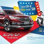 Mua xe ô tô CR-V được tặng ngay xe ga Honda SH ở Việt Nam