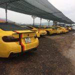 Dàn siêu xe toàn màu vàng của đại gia Sài Gòn đến Đà Nẵng ban đêm