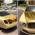 Bentley Mulsanne độ vàng thật xa xỉ của đại gia Qatar