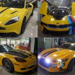 Loạt siêu xe của đại gia Sài Gòn thay đề can màu vàng