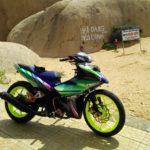 Tay chơi Đồng Nai độ xe Yamaha Exciter 150 sặc sỡ