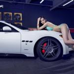 Chân dài xinh xắn cùng siêu xe Maserati GranTurismo S