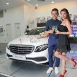 Ngắm xe sang Mercedes E200 2017 giá hơn 2 tỷ đồng của Thúy Diễm