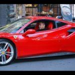 Tuấn Hưng nẹt pô, lái siêu xe Ferrari cùng bé su hào đi dự sự kiện