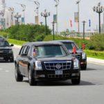 Dàn xe khủng hộ tống tổng thống Trump đến dự APEC 2017 trên phố Đà Nẵng