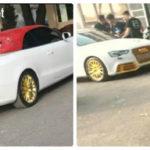 Dân chơi Hà Nội độ Audi A5 mui trần dát vàng kiểu đại gia Dubai