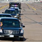Xe khủng của tổng thống Mỹ được hộ tống ra sao tại Hàn Quốc ?