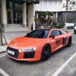 Siêu xe Audi R8 V10 tới chơi trên phố Đà Nẵng