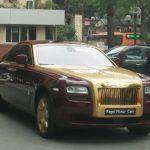 Rolls royce Ghost mạ vàng độc nhất Việt Nam tái xuất trên phố Hà Nội
