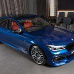 Khám phá BMW 750Li xanh độc nhất ở Abu Dhabi