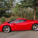 Siêu xe Ferrari 458 italia đi dã ngoại gần như mới nguyên