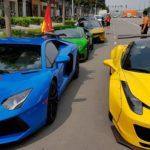Nhiều siêu xe của đại gia Sài Gòn xuống đường cổ vũ đội tuyển Việt Nam