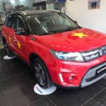 Dàn xe ô tô dán đề can cổ vũ đội tuyển bóng đá U23 Việt Nam chiến thắng