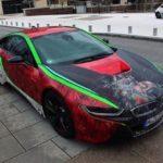 Siêu xe BMW i8 với sơn đổi màu Joker siêu độc đáo