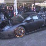 Video siêu xe Lamborghini Murcielago bị nghiền nát do nhập lậu