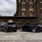 Cặp xe Range rover Evoque độ đen toàn tập qua tay hãng Arden