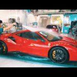 Xem siêu xe Ferrari 488 GTB rửa siêu sạch và chuyên nghiệp ở Đà Nẵng