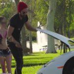 Video đại gia thử lòng chân dài có chồng bằng siêu xe