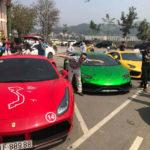 Hàng trăm người vây quanh dàn siêu xe Car and Passion 2018 lên Lào Cai