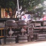 """Xe Container từng bị đổ trước cửa nhà """"đại gia"""" Vũ Hữu Lợi"""