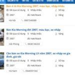 Xe Kia Morning dùng 11 năm bán giá 135 triệu đồng