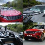 Range Rover Velar bị rơi xuống mất phần trên thành xe mui trần