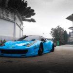 Siêu xe Ferrari 458 italia độ Lyberty Walk đổi màu xanh