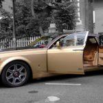 Cận cảnh xe siêu sang Rolls royce Phantom mạ vàng ở Đà Nẵng