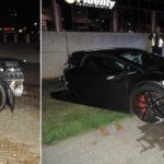 Lamborghini Huracan bị mất nửa thân phía sau do tai nạn