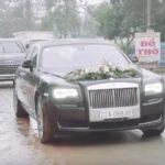 Rolls royce Ghost EWB biển Tuyên Quang cùng dàn xe sang đón dâu ở Hà Giang
