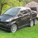 Smart siêu nhỏ độ xe bán tải 6 bánh độc đáo