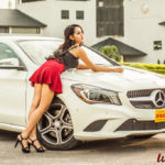 Người đẹp tuổi Teen Việt xinh dịu dàng bên xe sang Mercedes CLA 250