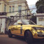 Dân chơi Bạc Liêu dán đề can mạ vàng cho Range rover