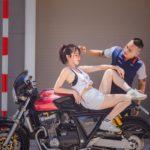 Hot girl bên xe mô tô CB1000 hầm hố của dân chơi mô tô đình đám