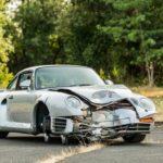 Xe sang Porsche 959 cổ và bị tai nạn giá bán lại gần 10 tỷ đồng