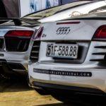 Cặp siêu xe Audi R8 mạ chrome bóng loáng ở Sài Gòn