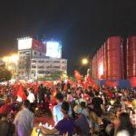 Nhiều xế sang ra đường mừng đội tuyển bóng đá Việt Nam chiến thắng U23 Syria