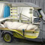 Xe kết hợp giữa xe Lam, xe tải, xe nhà di động độc đáo