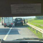 Xe Lexus LX570 bị va chạm hư hỏng trên cao tốc Hà Nội, Thái Nguyên
