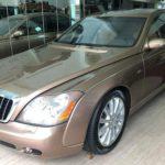 Xe siêu sang Maybach 57S cũ màu vàng cát bán lại về Showroom
