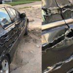 Xôn xao ảnh Mercedes bị cào nát hông, nhìn tưởng dán 3D