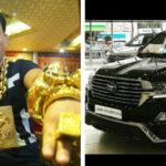 Số vàng trị giá 13 tỷ đeo trên người đại gia đổi được bao xe Toyota ?