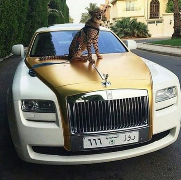 Đại gia khoe siêu xe Rolls royce