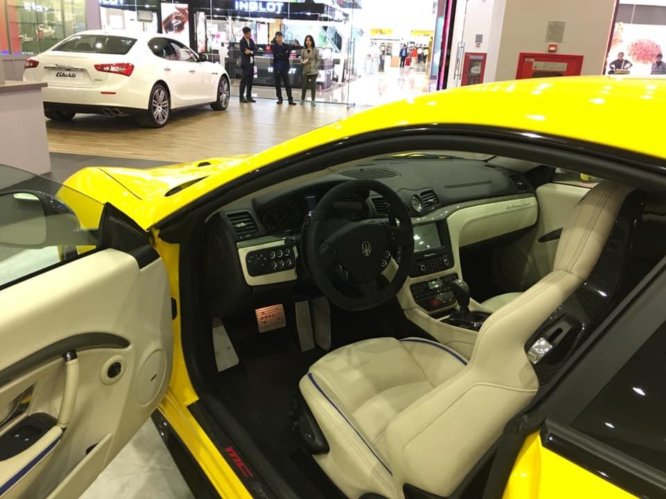 Nội thất siêu xe Maserati