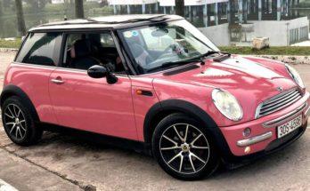 Mini cooper màu hồng tuyệt đẹp