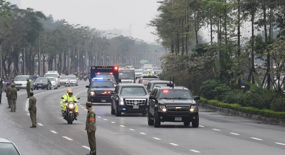 Dàn xe tổng thống Mỹ tại Hà Nội