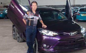 Xe cỏ Toyota Vios giá rẻ độ khùng