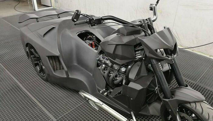 Siêu xe môtô lai Lamborghini độc đáo