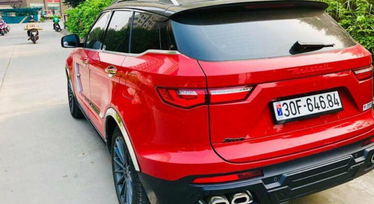 Xe Zotye Z8 nhái màu đỏ ở Hà Nội